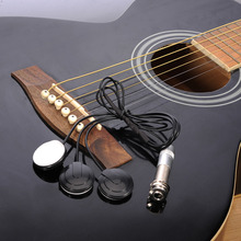 2017 Hot Sale Pickups Black Musical Instrument Pickups Transducer for Banjo Ukulele Mandolin Pickup Support Wholesale