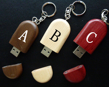 free logo 10pcs/lot 4GB 8GB 16GB usb flash pen drive gift wooden beans with chain Professional laser printing