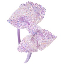 Buy Princess Girls Rhinestone Bows Headbands Boutique Children Hairbands Tiara Kids Children Party Hair Accessories for $1.93 in AliExpress store