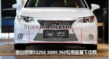 2013 -2014 for Lexus ES ES250 300h 350 TOP Quality Stainless steel Car front bumper Mesh Grille Around Trim Racing Grills