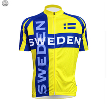 Classic retro sweden Cycling jersey yellow Men's short Wear bike por Team clothing Outdoor sports Mountain Bicicleta can custom
