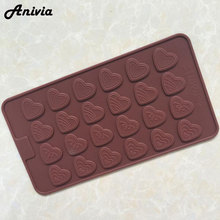 Heart Shaped Fashion Women 4 kinds of Love Silicone Ice Chocolate Cake Cookie Candy Mould