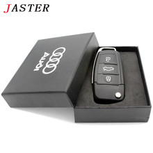 JASTER 100% real capacity USB 2.0 Pen Drive audi Car Key Usb flash drive Audi Gift Box pendrive 64GB 32GB 16GB 8GB u disk