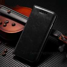 1 piece/lot 100% Genuine leather Cell Phones Case For iPhone 6 4.7 with Photo Frame Wallet Stand Card Hole Black Brown 5 Colors