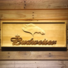 Denver Broncos Budweiser Beer 3D Wooden Bar Sign(China)