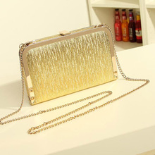 2017 Women Evening Party Bags Fashion Gold Silver shoulder cross body bag ladies Day Clutch Dinner Purse Girls Wedding Bride Bag(China)
