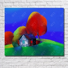 Chinese Oil Painting Abstract Modern Canvas Cartoon Art Painting for Living Room Decor Hang Pictures Wall Art No Framed(China)