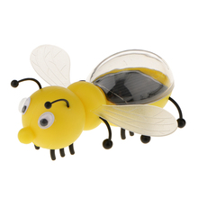 Solar Powered Bee Solar Toys Interesting Cute Kids Toy Plastic Educational Kids Gadget Toy Powered Energy Bee Girl Birthday Gift(China)