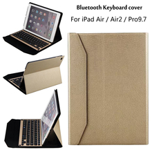 New 2017 For iPad 5 / 6 / Air / Air 2 / Pro 9.7 Tablet Ultra thin aluminum alloy Wireless Bluetooth Keyboard Case Cover + Gift