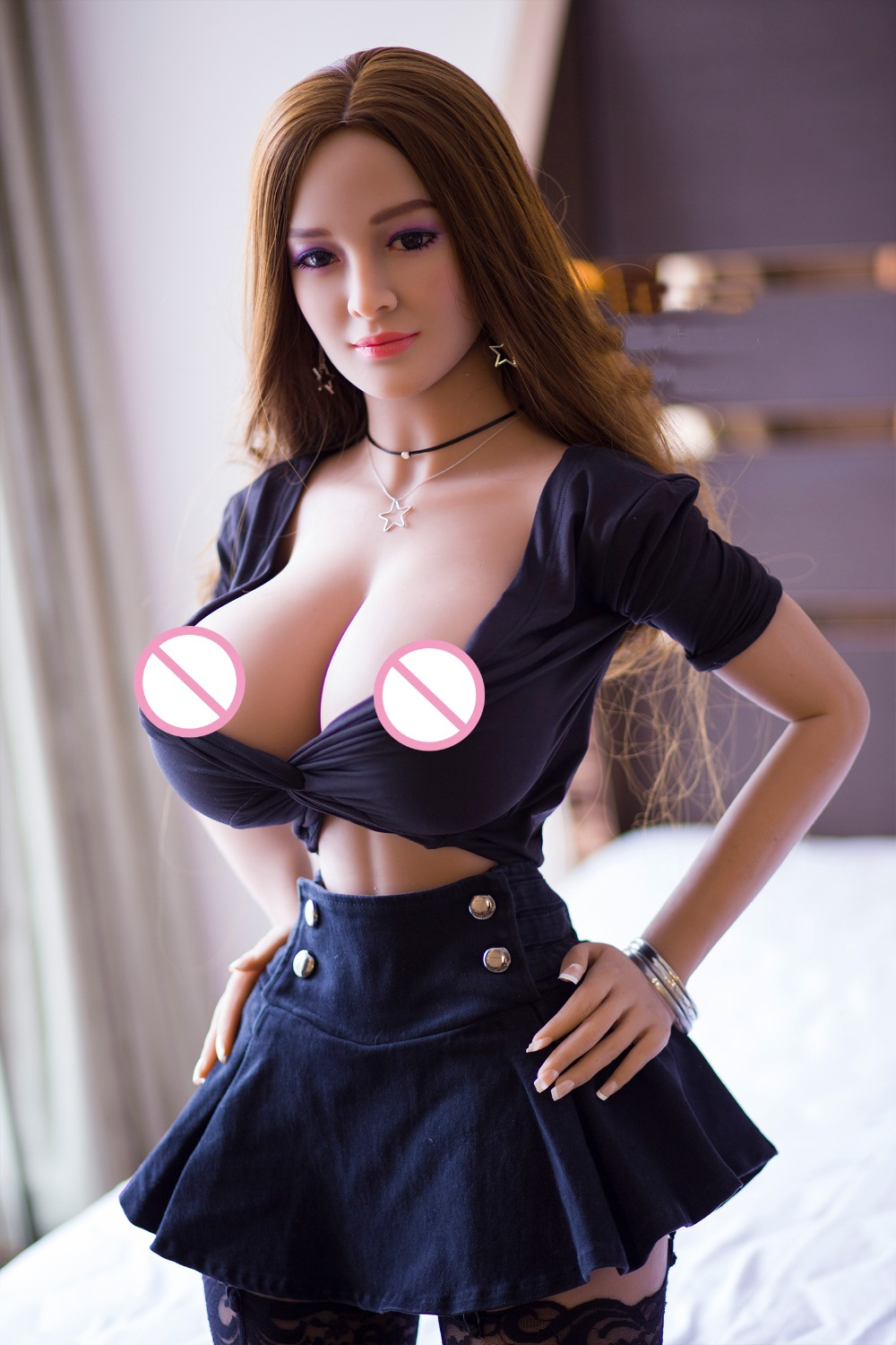 17 New 153cm Top Quality Tan Skin Japanese Real Doll, Full Size Silicone Sex Doll Love Doll, Oral Vagina Pussy Anal Adult Doll 2