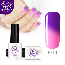 Sexy Mix 2017 High Quality Temperature Color Changing Gel Nail Polish UV Led Long Lasting Gel Nail Polish for Nail Art Design