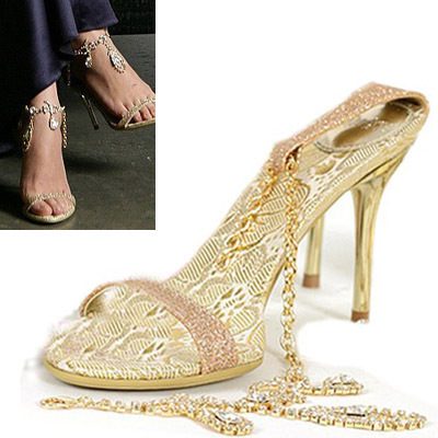 Fashion womens shoes banquet sexy bridal shoes sandals rhinestone thin heels high-heeled PUMPS wedding shoes gold<br><br>Aliexpress