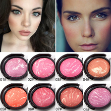 Facial Cosmetic 8 Colors Blusher Baked Pink Cheek Perfect Face Makeup Long-lasting Blush Palette Pressed Powder Cheeks Maquiagem(China)