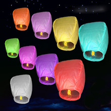 200pcs Multicolor  Chinese Wishing Lantern Flying Hot Air Balloon Fire Sky Lanterns Decor For Birthday Wish Wedding Party ZA1156