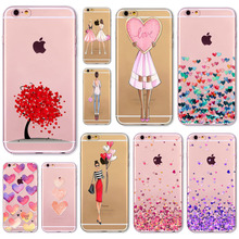 Sexy Fashion Noble Phone Fundas For iPhone 6 6S 6Plus 6sPlus 4 4s 5 5s SE 5c Phone Back Skin Cover Soft TPU Coque Phone Case