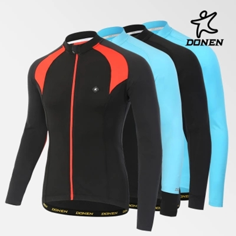Donen Cool Change long sleeve cycling jersey male autumn and winter outdoor bike coat riding clothes mountain bike equipment<br><br>Aliexpress