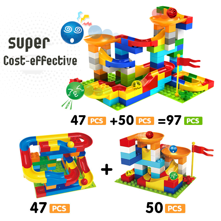 Combo Building Block Diy Funny Marble Race Run Creature Model Building Kit Assemblage Blocks Toys Self-Locking Toys for Kids<br>