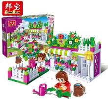 Model building kits compatible with lego new city flower shop 3D blocks Educational model building toys hobbies for children