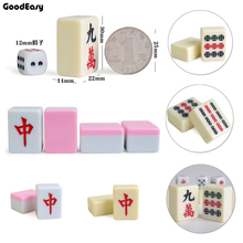 30mm Traveling Mini Mahjong Set Mahjong Games Home Games Chinese Funny Family Table Board Game 2 color option(China)