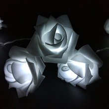 5M 50LED Holiday Rose Garland LED String Lights AA Battery Ferias Rose Christmas Luzes Cordas Bateria Events and Party Light(China)