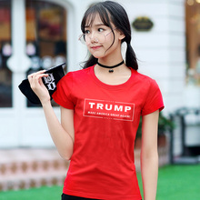 Donald Trump Letter printing T Shirt Women Make America Great Again Ladies Funny Casual Shirt For Lady T Shirt O Neck Tops