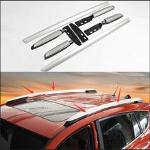 Roof Racks Aluminum alloy luggage rack Exterior parts products accessories new type For Toyota RAV4 2014 2015 car-styling(China)