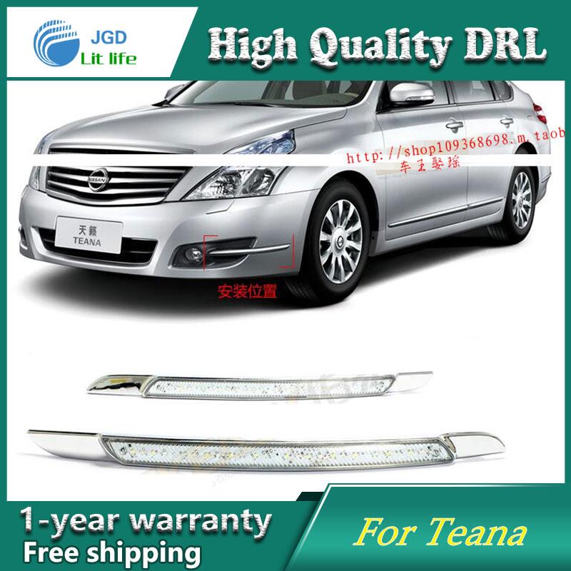 Free shipping ! 12V 6000k LED DRL Daytime running light case for Nissan Teana 2008 2009 2010 Daytime Running Lights fog lights<br>