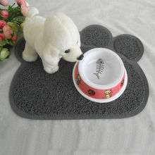 Brand New Cute Paw Shape Pet Dog Cat Puppy Dish Bowl Food Water Placemat Mat(China)