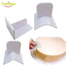 Delidge 1PC Plastic Cake Smoother Fondant Promotion Smoother With Square Right Angle Polisher Smooth Tools Surface Polishing(China)