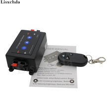 DC12V 96W or DC24V 192W Wireless LED Single Color Dimmer, Brightness Controller, With Remote
