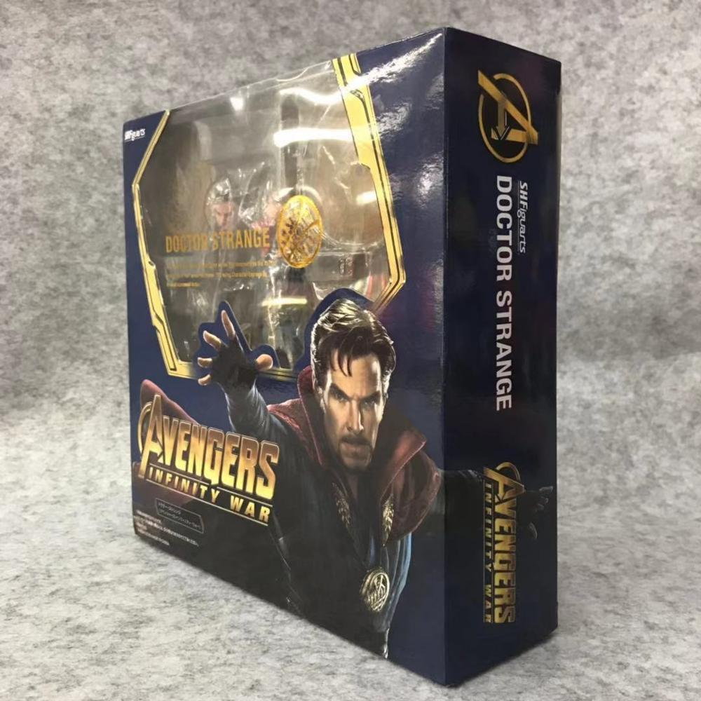 SHFiguarts Avengers Infinity War Black Widow Thanos Iron Man SpiderMan Star Load Doctor Strange Captain America Action Figure (10)