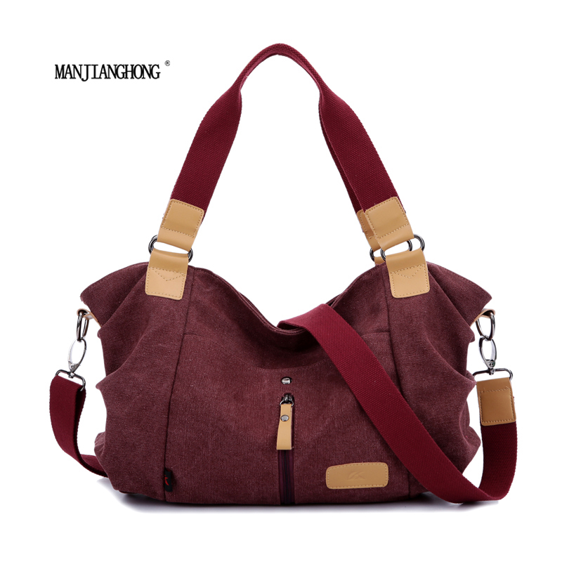 2017 women canvas bag casual vintage shoulder bag fashion school bags for teenagers and teenage girls blue red khaki handbag<br>