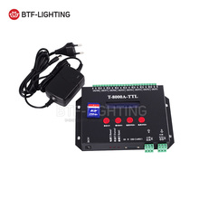 T8000A T8000 LED RGB Controller 8192 Pixel For WS2812B WS2811 TM1804 LPD6803 any IC RGB LED Strip Controller(China)