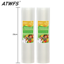 ATWFS High Quality 28cm*500cm/Roll Vacuum Bags for Food Storage Food Saver Vacuum Sealer Bags Vacuum Packer Bags