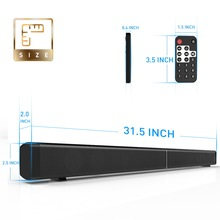 Stereo Speaker Super Bass Bluetooth Speakers 40W Strong Soundbar Home Theater for phone TV Computer with Romote Control