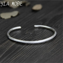 Buy Fyla Mode Fine 999 Silver Bangle Bracelet Female Opening Cuff Bangle 100% Real Silver Jewelry Size Adjustble WT024 for $18.99 in AliExpress store
