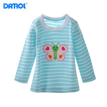 5pcs / lot Autumn Casual Cotton Baby Boy Girls Full Sleeve T-Shirts Clothing Cartoon Kids Clothes Children Infant Tees t Shirts