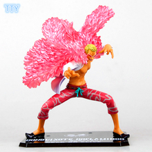 One Piece Action Figure Donquixote Doflamingo Joker Figures 19cm PVC model Toys for kids Best Collection Gifts with retail box