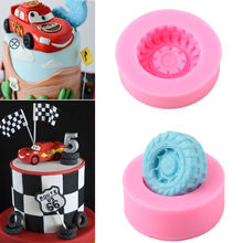 3D Car Tires Silicone Fondant Mold Cake Decorating Baking Sugarcraft Mould Tools Baking Tools For Cakes(China)