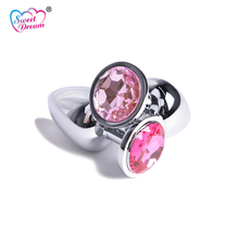 Buy Sweet Dream 3x8cm Medium Crystal Jewelry Stainless Steel Anal Plug Adult Butt Plug Sex Toys Women Sex Products BLM-205
