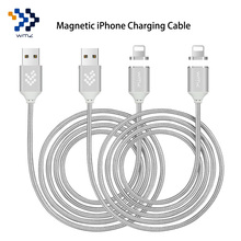 2 Pack WMZ Magnetic Cable for Lightning USB Magnetic Cables Nylon Braided 8 Pin Charger USB Cable for iPhone 6 6s 7 Plus 5s 5c X