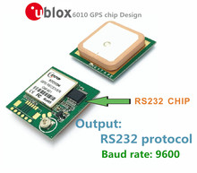 Free shipping ublox6010 GPS receiver Module with Antenna RS232 output is compatible with NEO-6M protocol, 9600 baud rate, perfo(China)