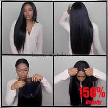 150% Density 8A Full lace human hair wigs for black women Glueless full lace wigs Brazilian virgin hair straight lace front wigs