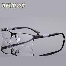 11e166b6c3a21 Belmon Armação de óculos Homens Óculos de Nerd de Computador Coreano  Prescrição Óculos de Lente Clara Óculos de Armação Óptica P..