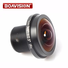 Fisheye 5MP 1.7mm Lens 180 Degrees IR Lens Night Vision Lens 1080P HD CCTV Lens For HD IP /CVI/TVI/AHD Camera(China)