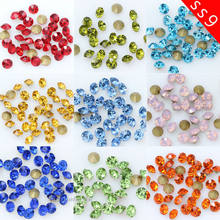 1440p PP19 ss9 color Point Back czech Crystal Rhinestone jewels Glass strass  chatons stone Ornaments repair Nail Art loose beads 395489826875