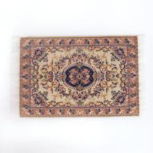 1:12 Кукольный дом Миниатюрный турецкий Стиль Ковры миниатюрный Вышивка ткань Коврики для 1/12 кукольный домик небольшая Игрушечная мебель по...(China)