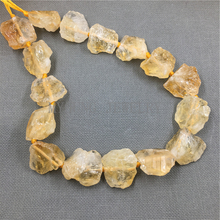 MY1090 High quality Natural Rough Raw Yellow Crystal Quartz Nugget , Citrines Beads Point Drilled Quartz Beads,Free Shipping