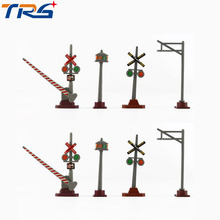 8pcs HO scale model train traffic signs General train accessories scene game building kits(China)