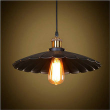 Lamp Pendant Lights Vintage Style Industrial Light Loft Retro Nostalgia Lamp Cafe-bar LED Black Lotus Umbrella Pendant Lamp